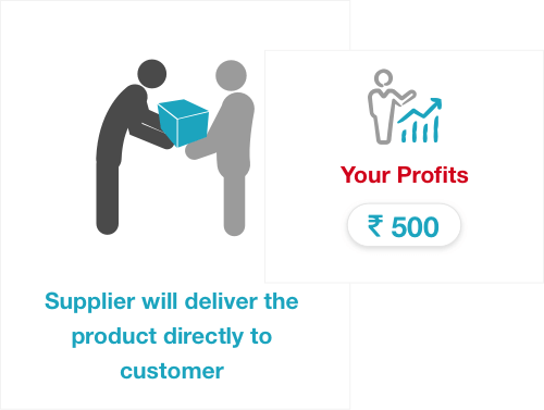 You keep the profit. The product gets delivered to the end customer by the supplier